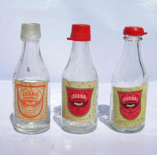 Diana sósborszesz üvegek