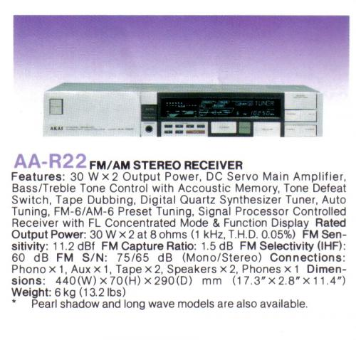 Akai rádióerősítő  AA-R22