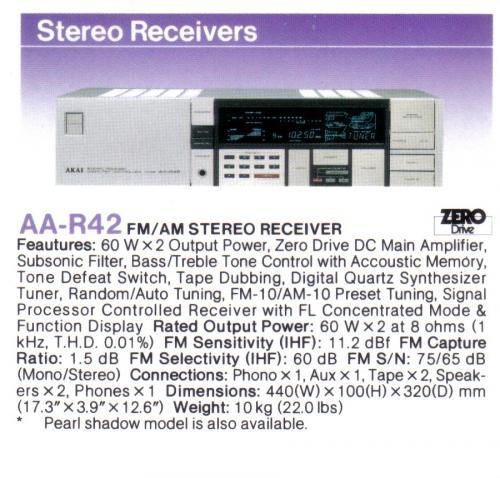 Akai AA-R42 rádióerősítő