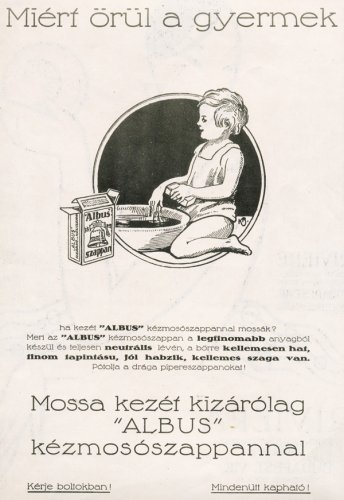 ALBUS Kézmosószappan hirdetés