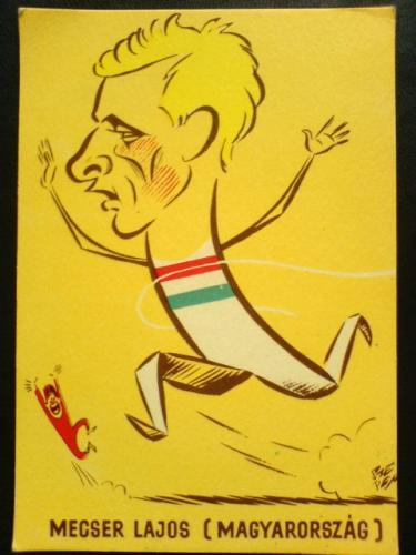 Mecser Lajos karikatúra képeslap