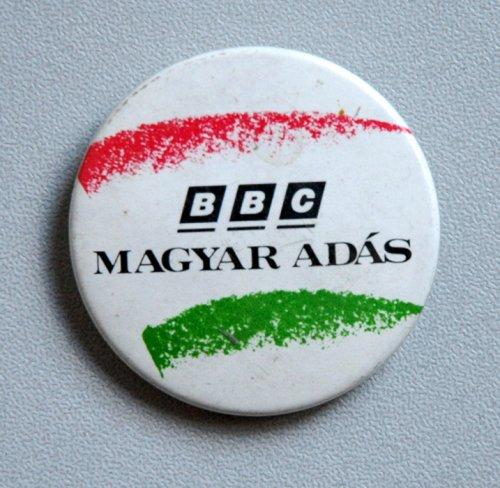 BBC Magyar Adás kitűző