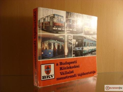 BKV menetrend 1987