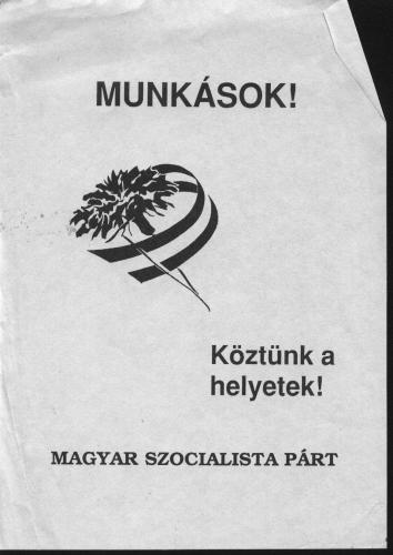MSZP plakát