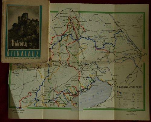 Bakony túristaleírás + térképmelléklet