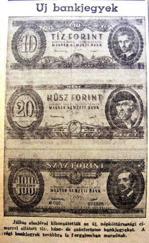 Új bankjegyek forintok