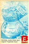 Duna kavics, Francia drazsé, Zselé cukorka (Budapesti Füszért-reklám)