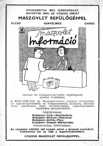 MASZOVLET reklám