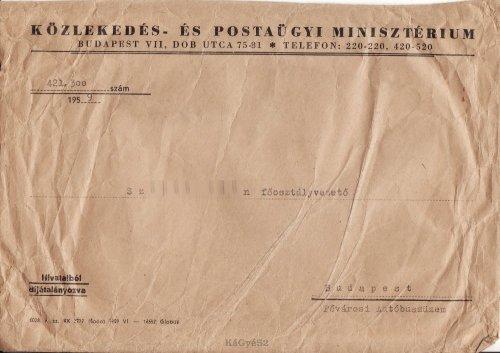 Minisztériumi boríték
