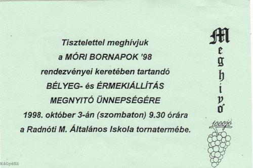 Móri bornapok
