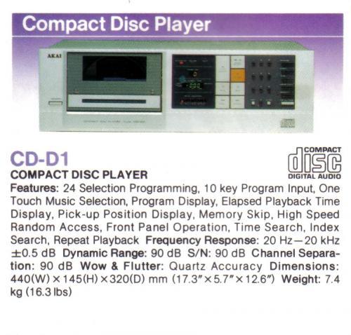 Akai CD-D1 CD lejátszó