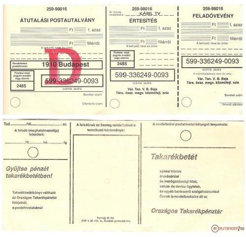 Átutalási postautalvány - Csekk