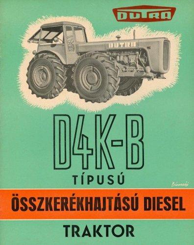 Dutra traktor - D4K-B prospektus