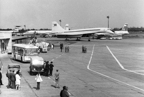 TU-144 Ferihegyen.