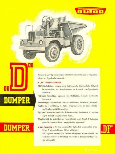 """Dutra dömper - """"D"""" prospektus"""