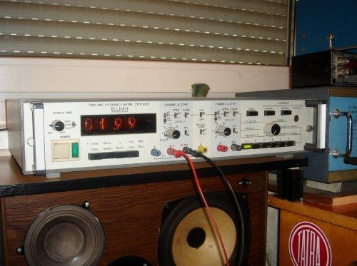 ELMI ZTTK 30101 nixie-csöves frekvenciamérő