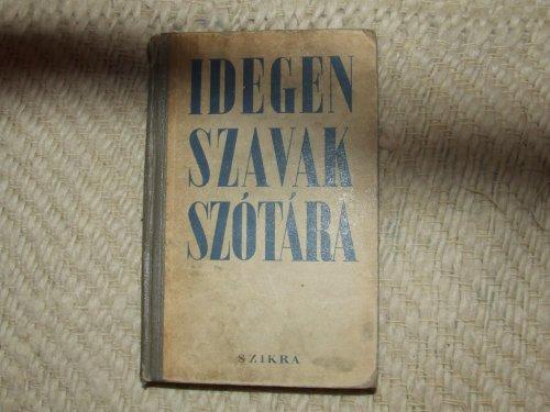 Idegen szava szótára
