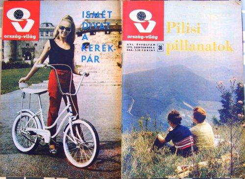Bicikli banánnyerges Ország-Világ újság
