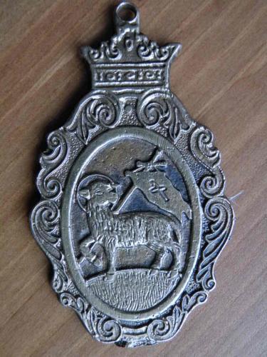 Szentendre   medalion,  réz
