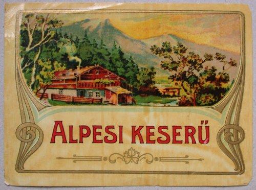 Alpesi keserű címke