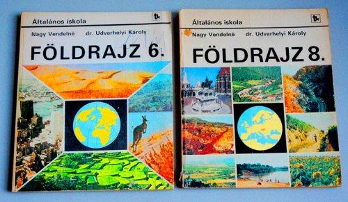 Földrajz tankönyv  6 - 8 osztály
