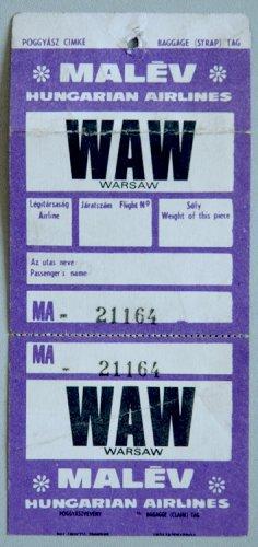 Malév beszállókártyák