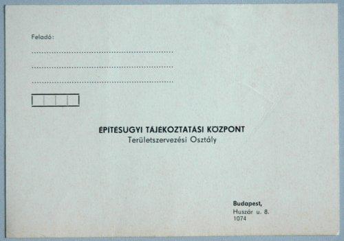 Építésügyi Tájékoztatási központ levelezőlap