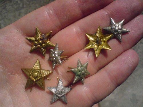 Katonai vállap csillagok