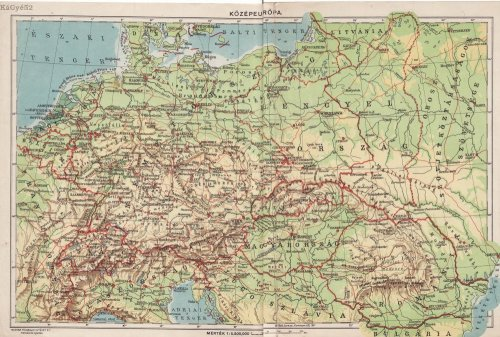 Közép-Európa térkép