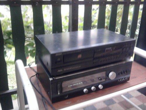 Denon Dcd 695 cd lejátszó és Videoton EA 6383 erősítő
