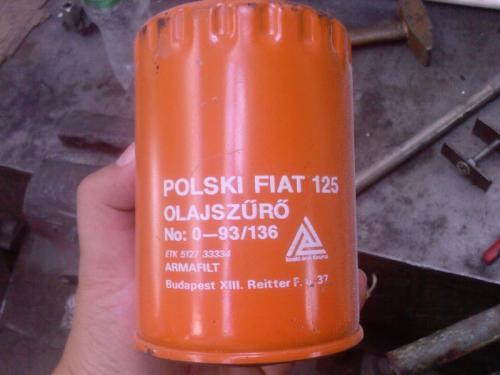 Polski Fiat 125 olajszűrő