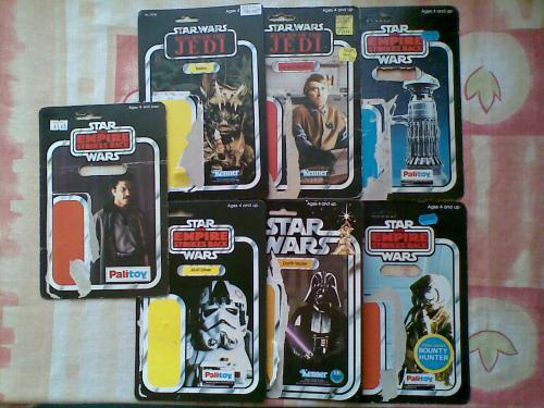 Star Wars bábu hátlapok