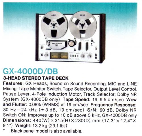 Akai GX-4000/DB orsós magnó
