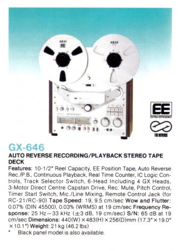 Akai  GX-646 orsós magnó