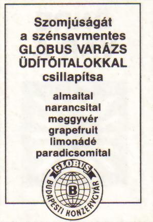 Globus varázs üdítőitalok