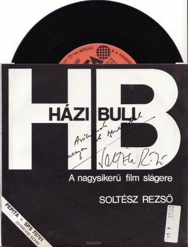 Soltész Rezső dedikált kislemeze