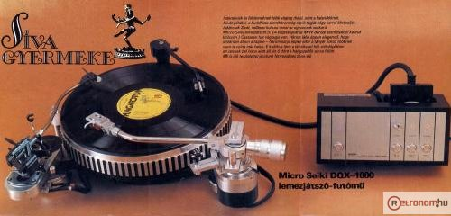 Micro Seiki lemezjátszó DQX-1000)