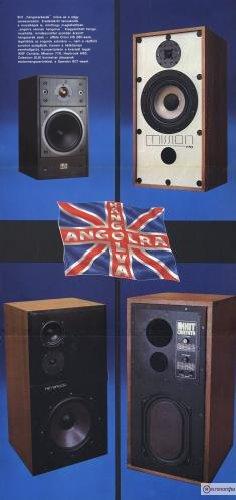 1984/1-es Hifi Magazin Poszter (KEF Cantata,Mission 770, Heybrook HB3, Celestion SL6)