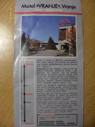 Jugoszlávia - Motel Vrajne prospektus