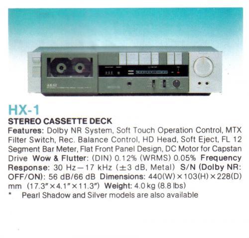 Akai HX-1 kazettás magnó