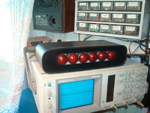 Nixie-óra saját építésű, 6-digites TTL-es