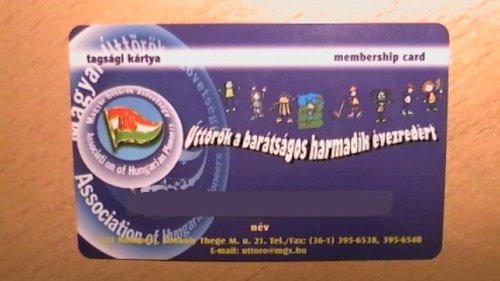 Úttörő tagsági kártya