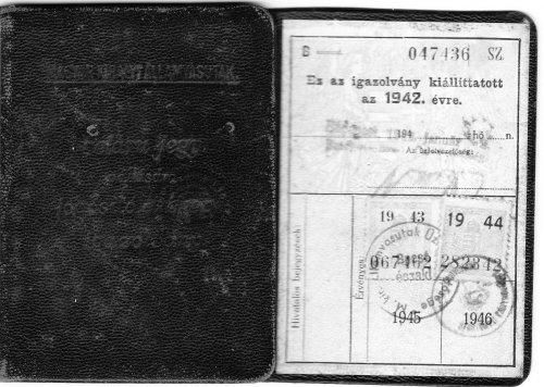 MÁV féláru jegy váltására jogosító arcképes igazolvány