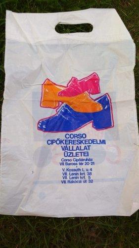 Corso cipő reklámzacskó