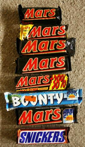 MARS csokoládék