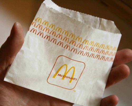 Mc Donald's sültkrumpli papír