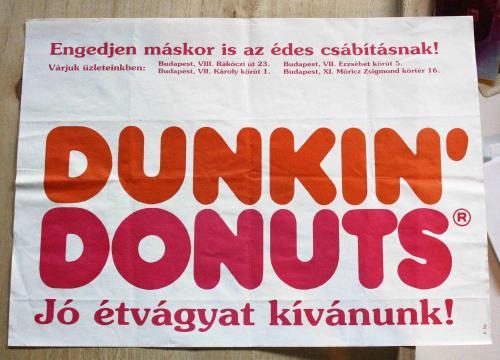 Dunkin Donuts Tálca papír