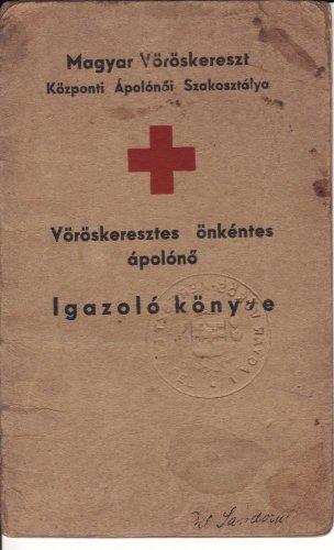 Vöröskeresztes igazoló könyv
