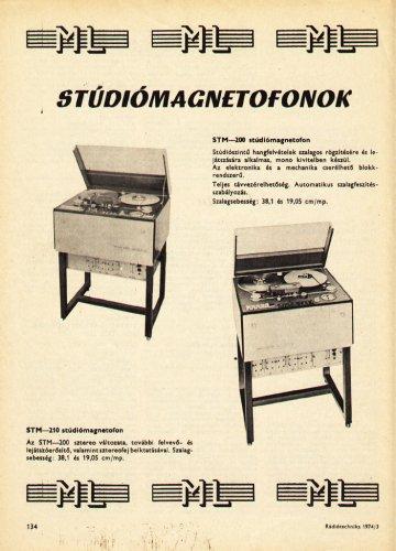 ML Stúdiómagnetofonok