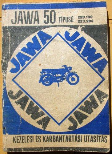 Jawa Mustang motorkerékpár kezelési utasítás